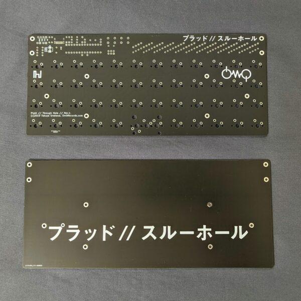 Plaid-C 40% Ortho Through-Hole Kit Black PCB+Plate Back