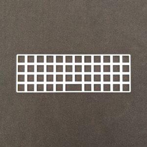 Plaid-C Switch Plate White